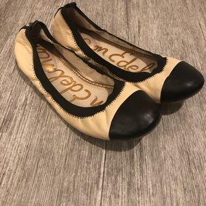 Sam Edelman ballet shoes light tan /black 7.5 EUC